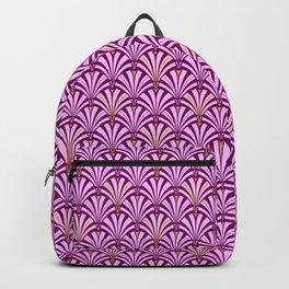 Art Deco Fan Pattern, Orchid and Amethyst Purple Backpack