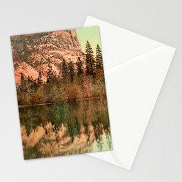 Mirror Lake - Yosemite National Park - Circa 1900 Photochrom Stationery Cards