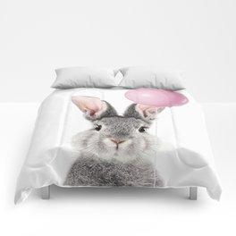 Bunny With Balloon Comforters