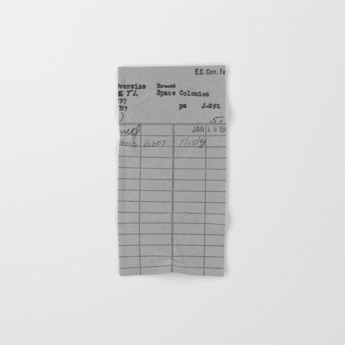 Library Card 797 Gray Hand & Bath Towel