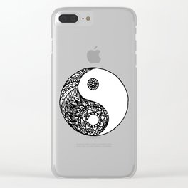 Tangled Yin Yang Clear iPhone Case
