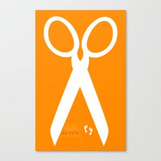 Running with scissors Canvas Print