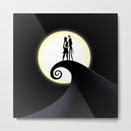 Jack Skellington & Sally Metal Print