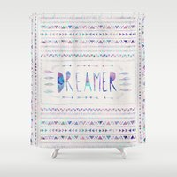 dreamer Shower Curtains featuring DREAMER by Bianca Green