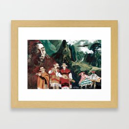 The ANDES             by Kay Lipton Framed Art Print