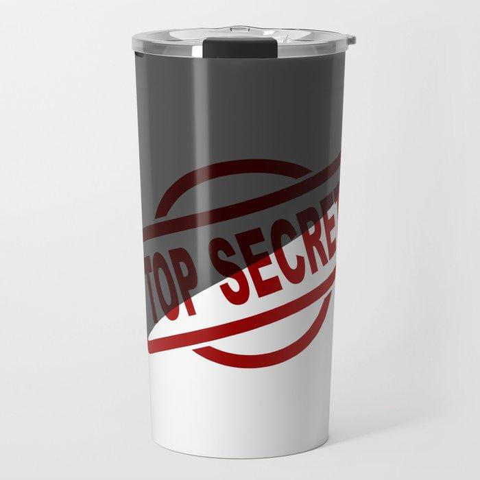 Top Secret Half Covered Ink Stamp Travel Mug