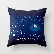 Cosmic Donuts Throw Pillow