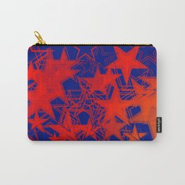 Vector blue background in red stars. For registration of paper or banners. Carry-All Pouch