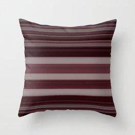 Plum Stripe Throw Pillow