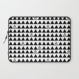Black geometric print Laptop Sleeve