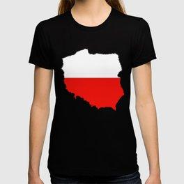 Poland Map with Polish Flag T-shirt