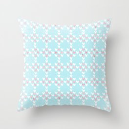 From Hearts Love And Christmas-Cute teal X-Mas Pattern Throw Pillow