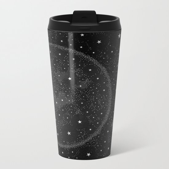 Starry Boho Moons Metal Travel Mug