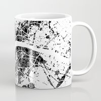 london map Mugs featuring London map by Nicksman