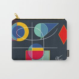 Joyful Abstract Composition Art Carry-All Pouch