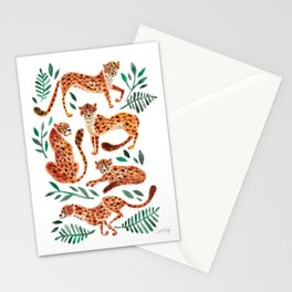 Cheetah Collection – Orange & Green Palette Stationery Cards