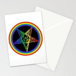 Gay for Satan Stationery Cards