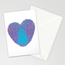 Pop art heart, Turquoise heart, Blue love art, Blue Heart print, Blue Heart graphic, Large heart Stationery Cards