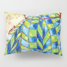 The Puppet: Abstract Acrylic Painting Pillow Sham