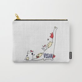 Brontosaurus and Vegan Friends Carry-All Pouch