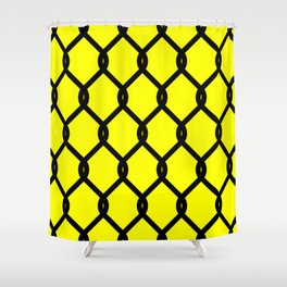 Chain-Link Fence (from Design Machine archives) Shower Curtain