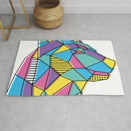 Geometric Bear Rug