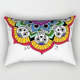 mandalavera de colores Rectangular Pillow