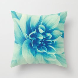 Blue Beauty (Spring Blooming Dahlia) Throw Pillow