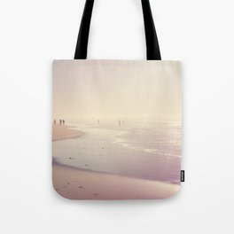 A Day at the Pink Beach Tote Bag