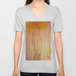 Lucille, The First Human Angel Unisex V-Neck