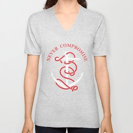 THE SAILOR IS NEVER COMPROMISE Unisex V-Neck