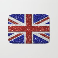 Glitters Shiny Sparkle Union Jack Flag Bath Mat