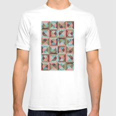 collage mix paper White MEDIUM Mens Fitted Tee