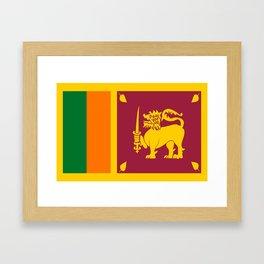Flag of sri Lanka -ceylon,India, Asia,Sinhalese, Tamil,Pali,Buddhist,hindouist,Colombo,Moratuwa,tea Framed Art Print