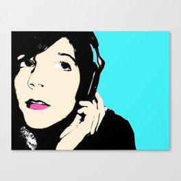 pop art girl Canvas Print