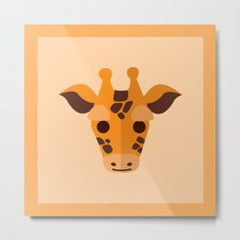 Cute Baby Giraffe Metal Print