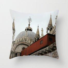 St. Marks Basilica Throw Pillow