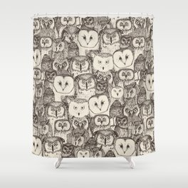 just owls natural Shower Curtain