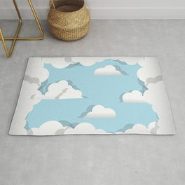 Clouds chasing - paper cut series -  Rug