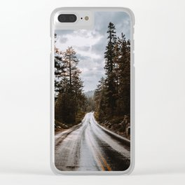 Rainy Day Adventures in the Forest Clear iPhone Case