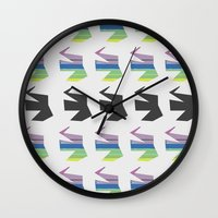 elephants Wall Clocks featuring Elephants by Elle Major