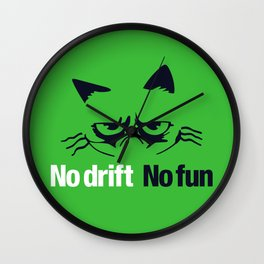 No drift No fun v7 HQvector Wall Clock