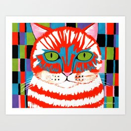 Bad Cattitude - Cats Art Print