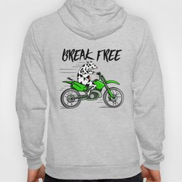 Cow riding a motorbike Hoody