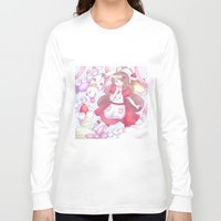 bee and puppycat Long Sleeve T-shirts featuring Bee & puppycat ver 2 by Kurodoj