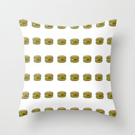 Hamburger Repeat Pattern Throw Pillow