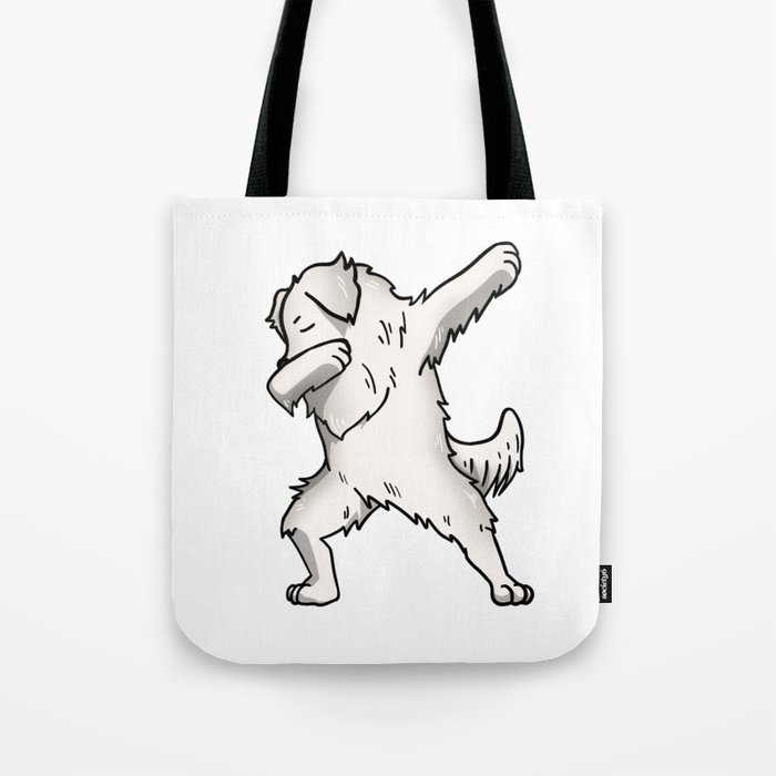 Funny Dabbing Great Pyrenees Dog Dab Dance Tote Bag