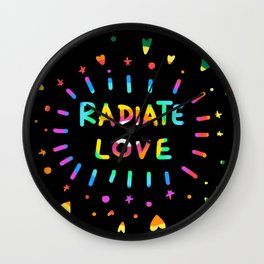 Radiate Love Wall Clock