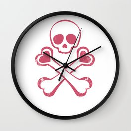 Valentine's day T-shirt Love With Jolly Roger Wall Clock