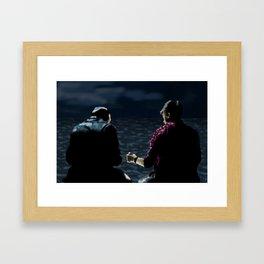 John and Rodney on the Pier Framed Art Print